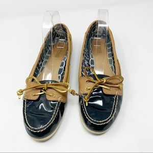 Sperry Top-Sider Blue Patent Leather Loafers
